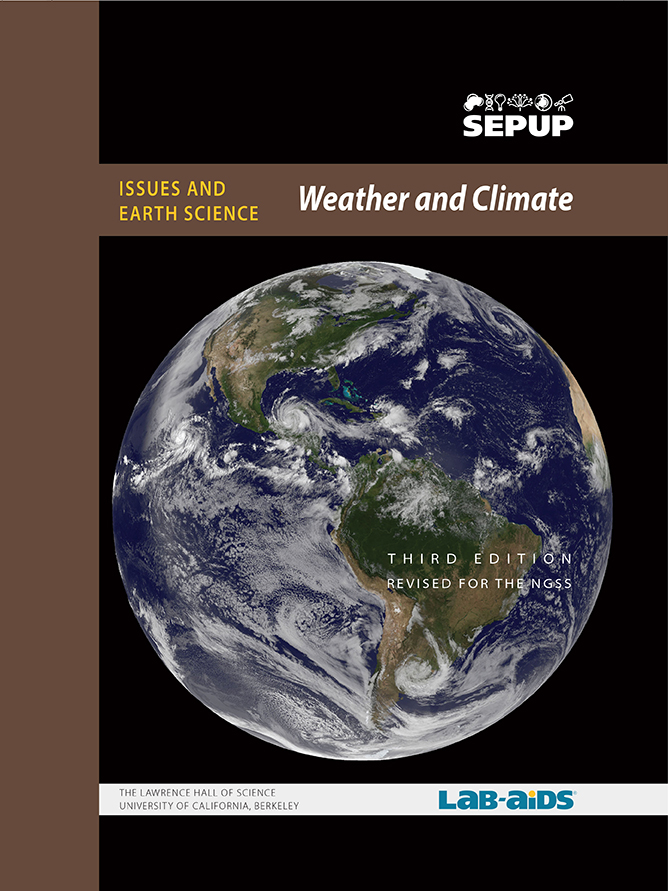 Image of Weather and Climate Student Book Cover with a picture of Earth taken from space.